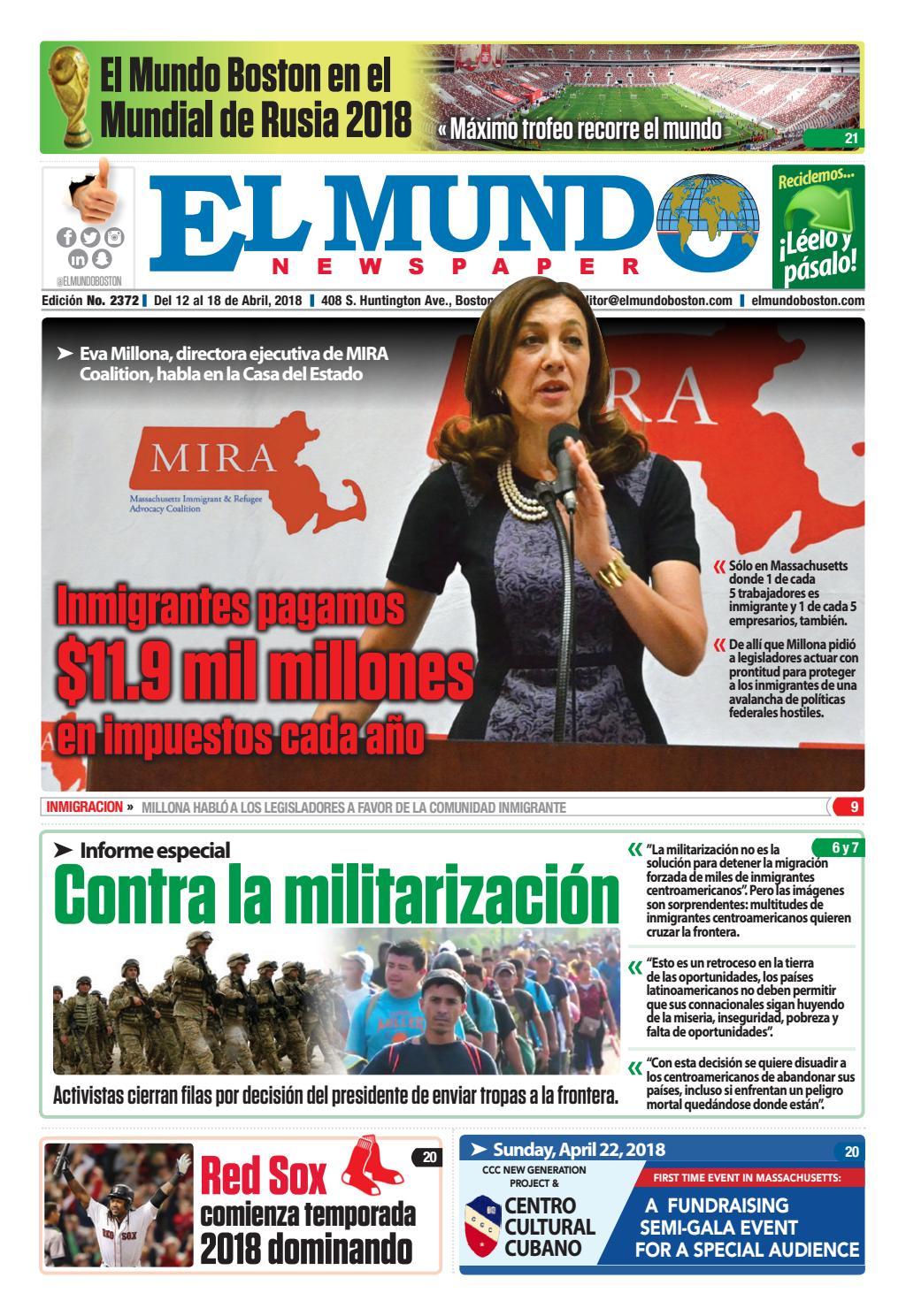 El Mundo Boston   Newspaper   Apr 12, 2018 by El Mundo Boston Newspaper -  issuu