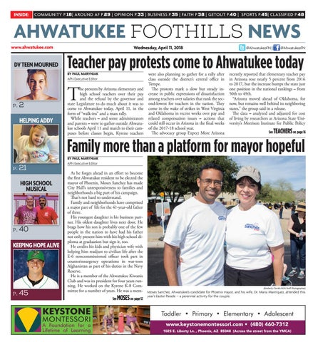 Ahwatukee Foothills News - April 11, 2018 by Times Media