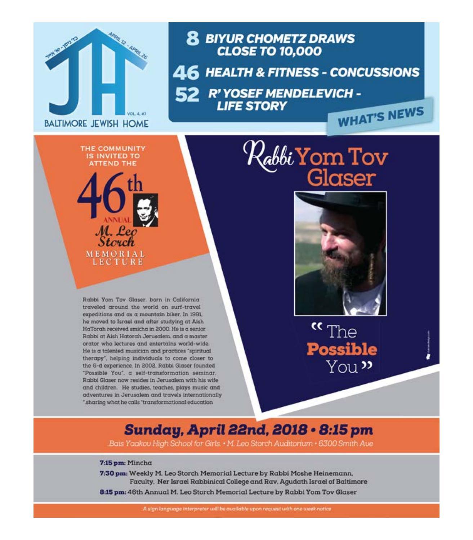 Baltimore Jewish Home - 4-12-18 by Moshe Rubin - issuu