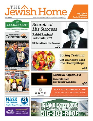 Five Towns Jewish Home - 4-12-18 by Yitzy Halpern - issuu