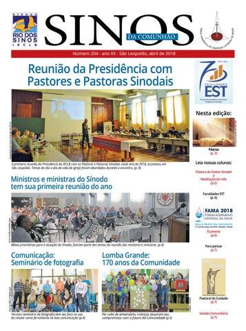 ecb9c8160 Sinos da Comunhão - Ano 20 - Nº. 204 - Abril 2018 by Portal ...