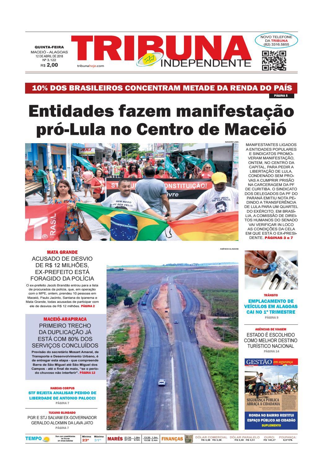 91a2595b59 Edição número 3122 - 12 de abril de 2018 by Tribuna Hoje - issuu