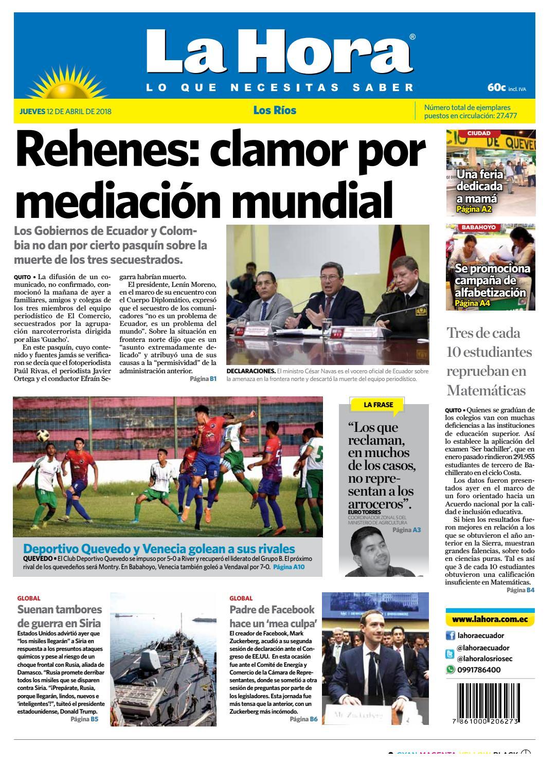 25b1b8f920 Los Ríos 12 de abril de 2018 by Diario La Hora Ecuador - issuu