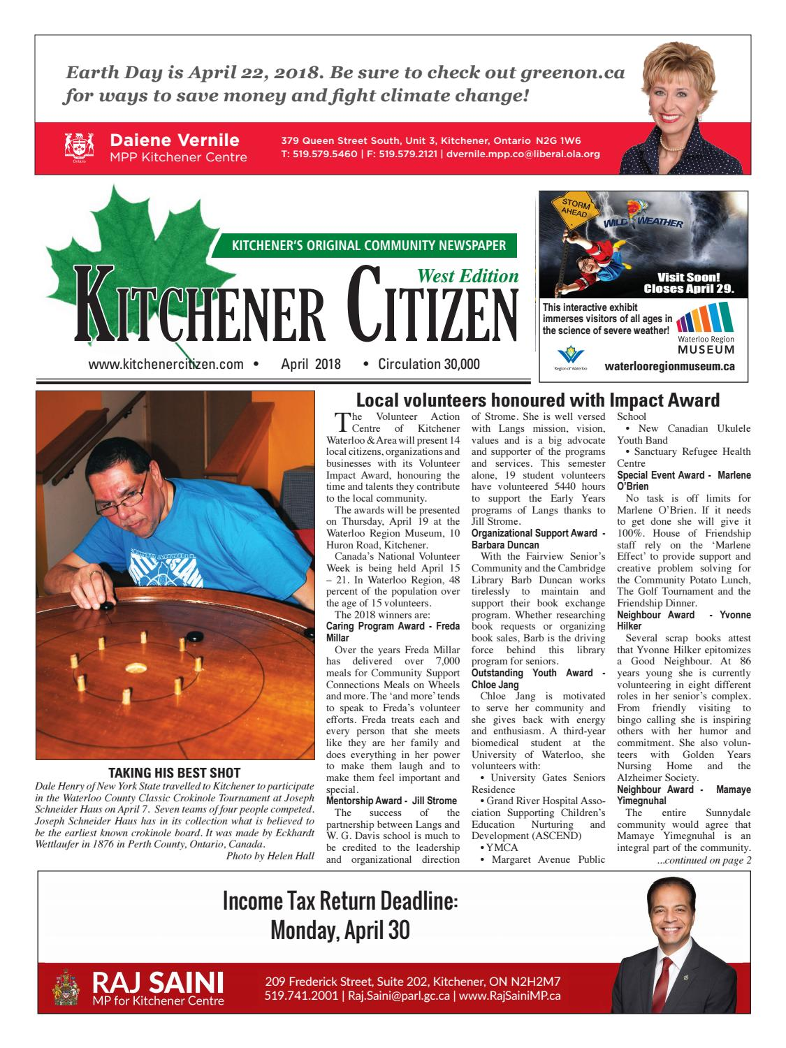 Kitchener Citizen - West Edition - April 2018 by Kitchener Citizen ...