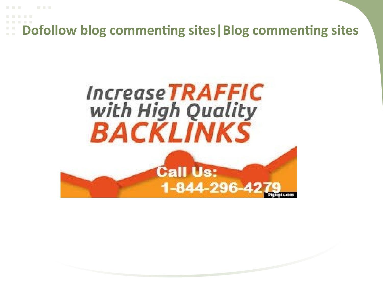 dofollow blog commenting sites|high pr blog commenting sites