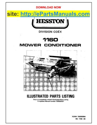 hesston 1160 parts manual for mower conditioner by epartsmanuals issuu Electrical Diagram