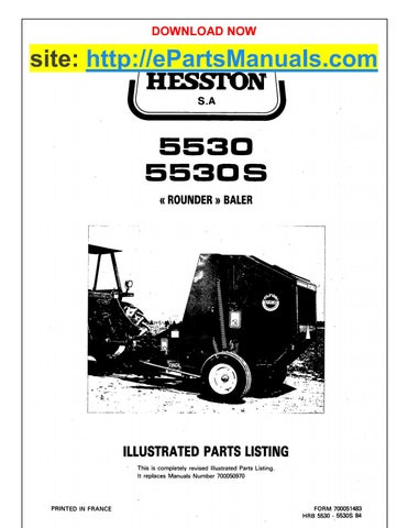 Hesston 5530 (s) parts manual for round baler by epartsmanuals - issuu