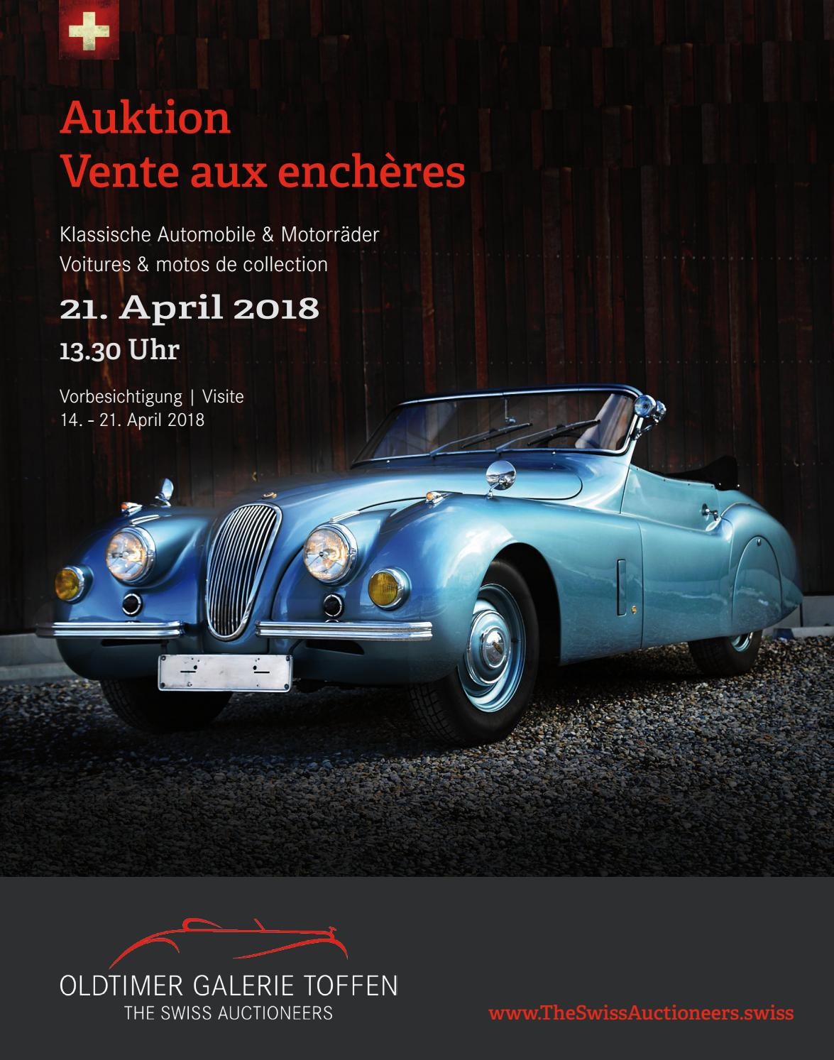 Catalogue April 21st 2018 By Oldtimer Galerie International GmbH