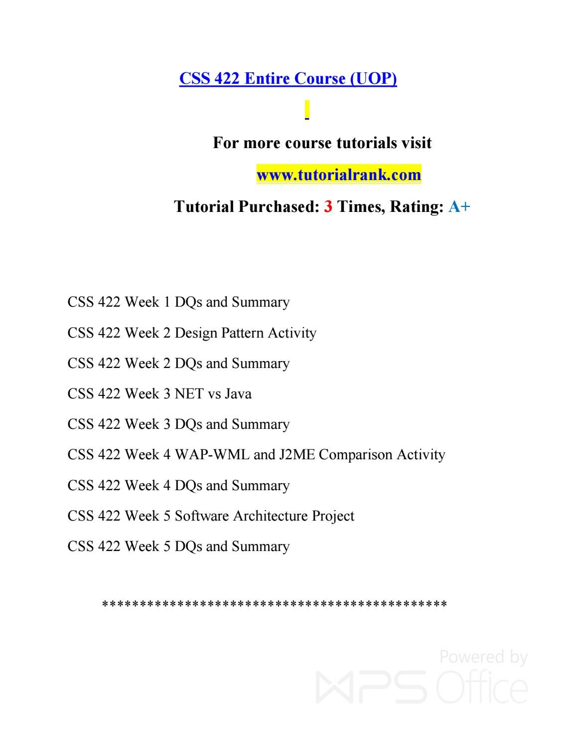 Css 422 Possible Is Everything--tutorialrank com by c u n