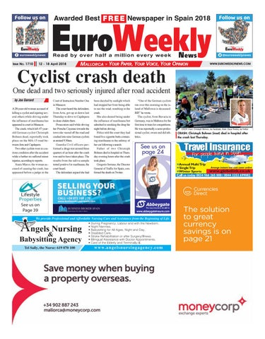 Euro weekly news mallorca 12 18 april 2018 issue 1710 by euro page 1 fandeluxe Images