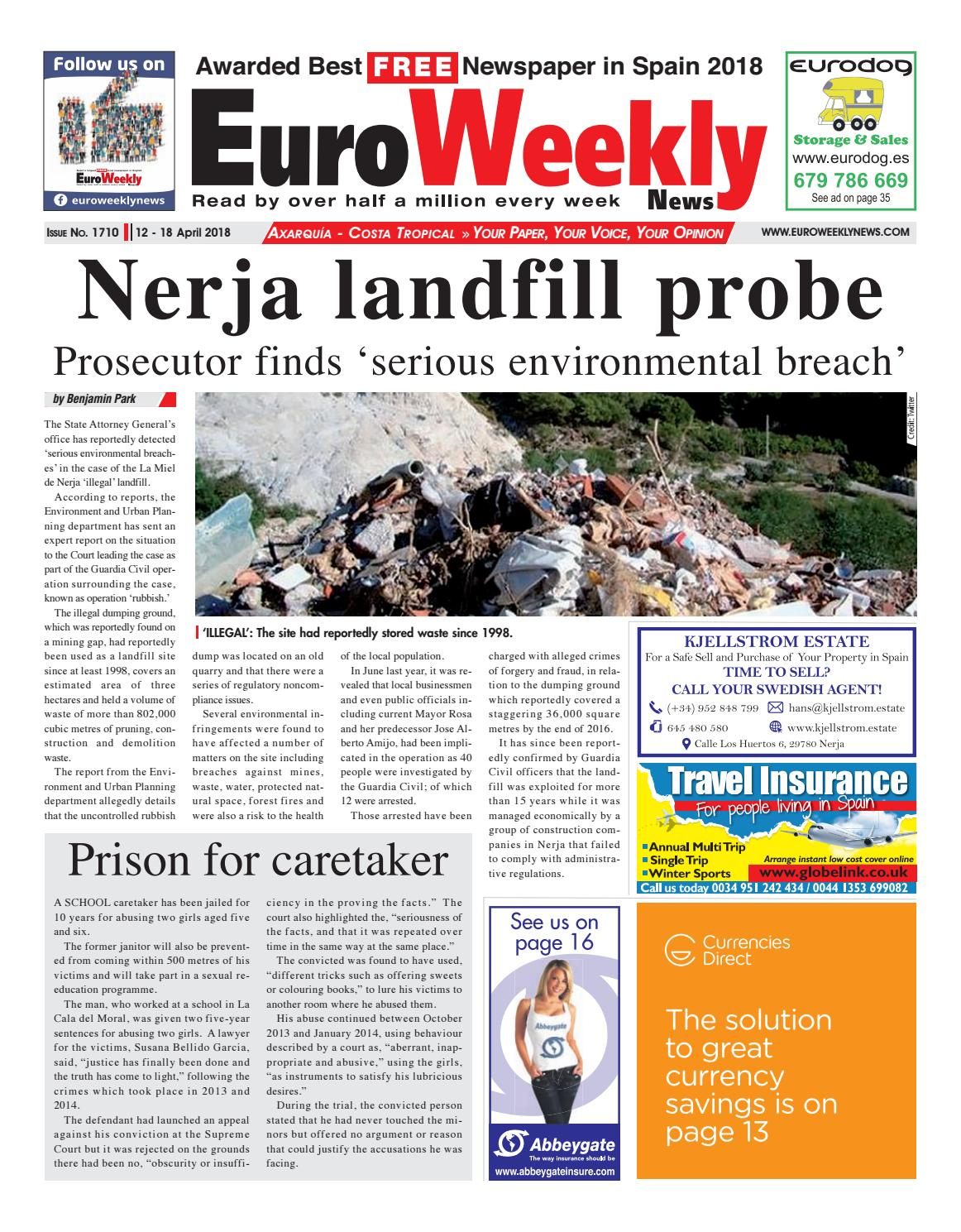 Euro Weekly News - Axarquia 12 - 18 April 2018 Issue 1710 by Euro ...
