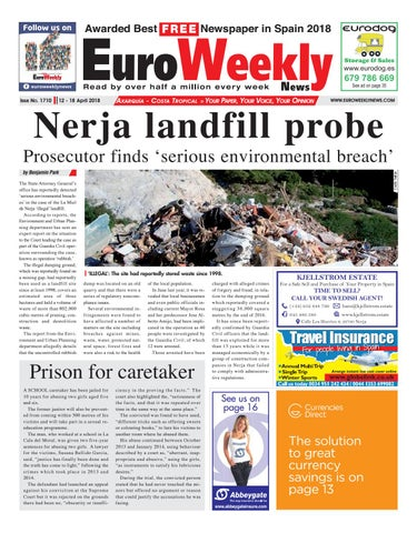 Euro weekly news axarquia 12 18 april 2018 issue 1710 by euro page 1 fandeluxe Image collections
