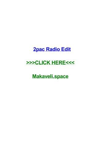 2pac Radio Edit By Kellyyxju Issuu