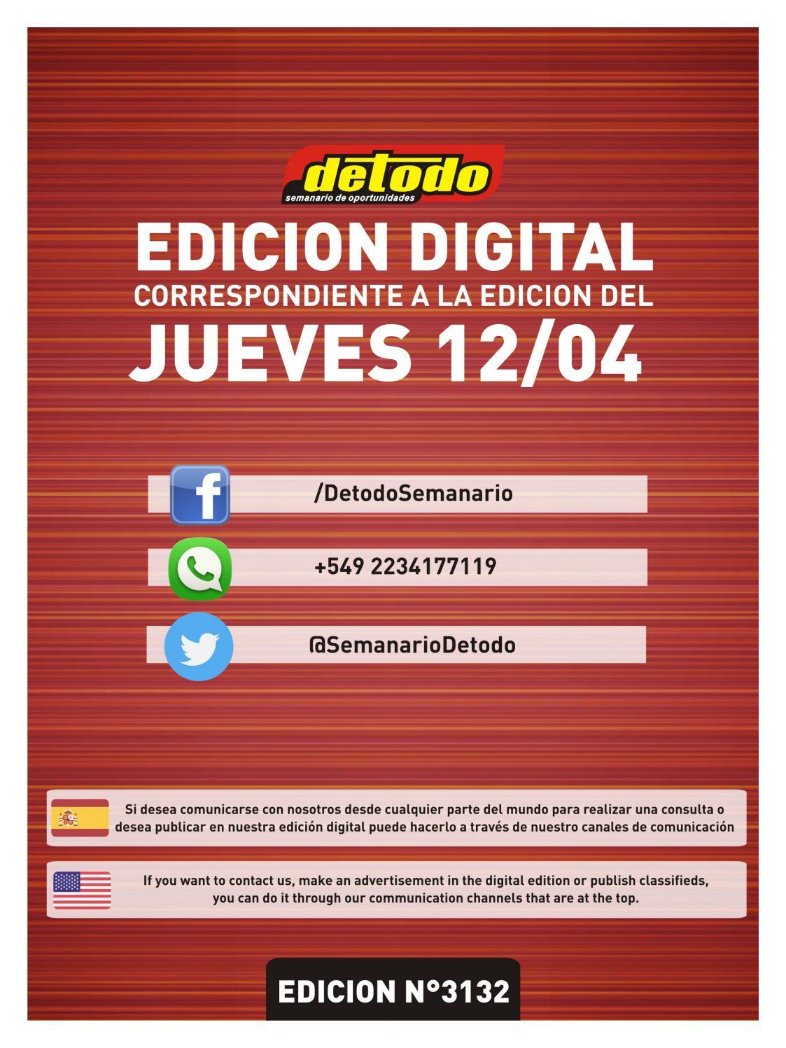 Semanario Detodo - Edición N° 3132 - 12/04/2018 by Semanario Detodo ...