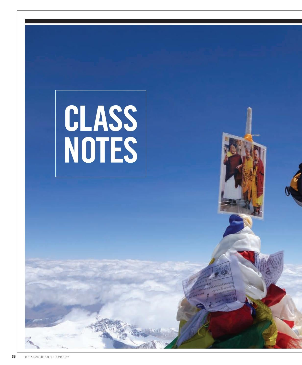 Class notes winter 2018 by tuck school of business at dartmouth issuu