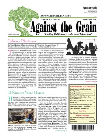Against the grain v30 1 february 2018 by against the grain issuu page 1 fandeluxe Choice Image