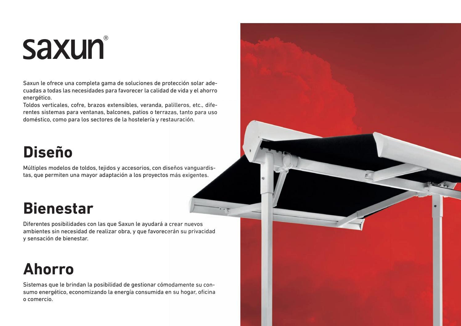 Saxun Toldos Sistema De Protección Solar Es By Gimenez