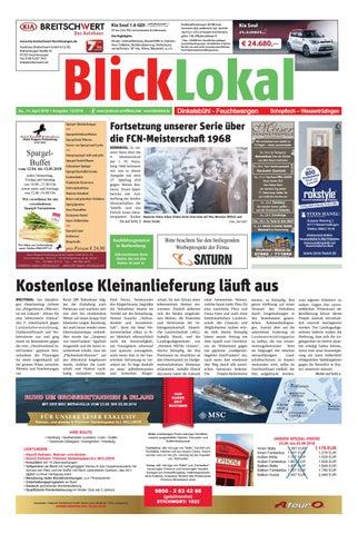Baumarkt Feuchtwangen blicklokal dinkelsbühl feuchtwangen kw 15 2018 by blicklokal