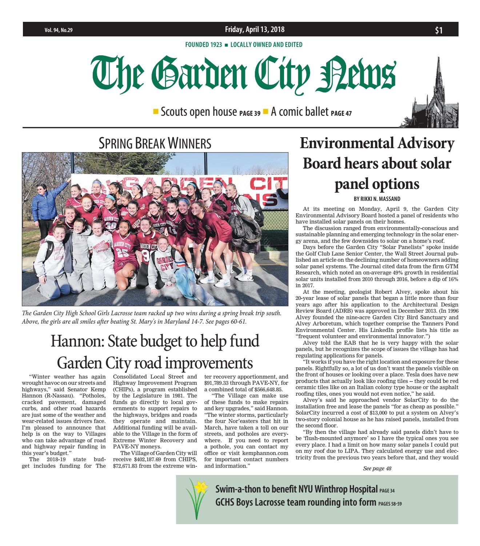 The Garden City News (4/13/18) by Litmor Publishing - issuu