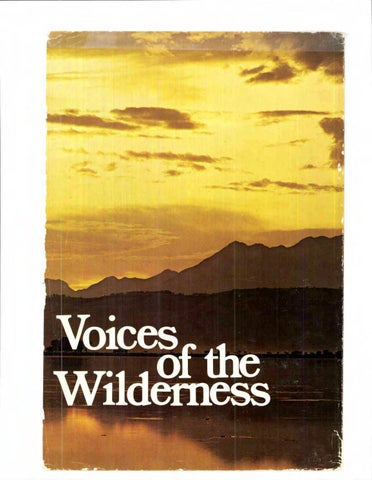 Voices of the Wilderness by WILD Foundation - issuu