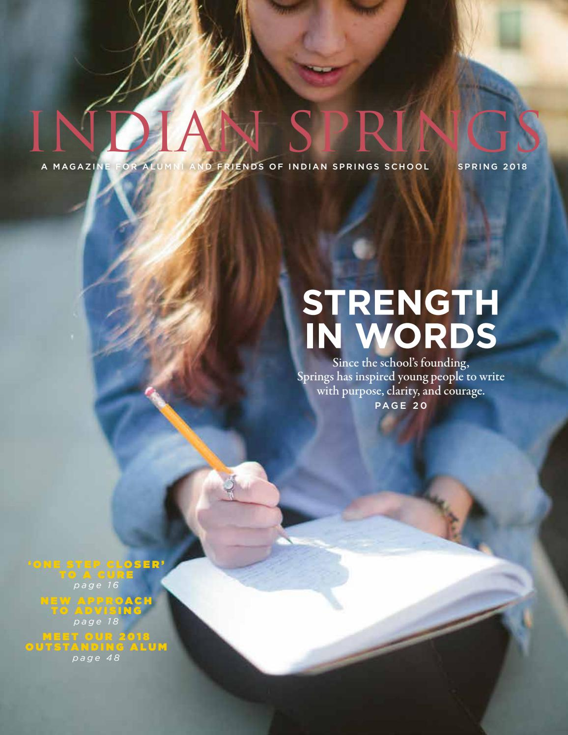 8263340ca37 Spring 2018 Magazine by Indian Springs School - issuu