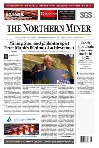 165 Niocorp Appoints Mr Mark A Smith  >> The Northern Miner April 16 2018 Issue By The Northern Miner