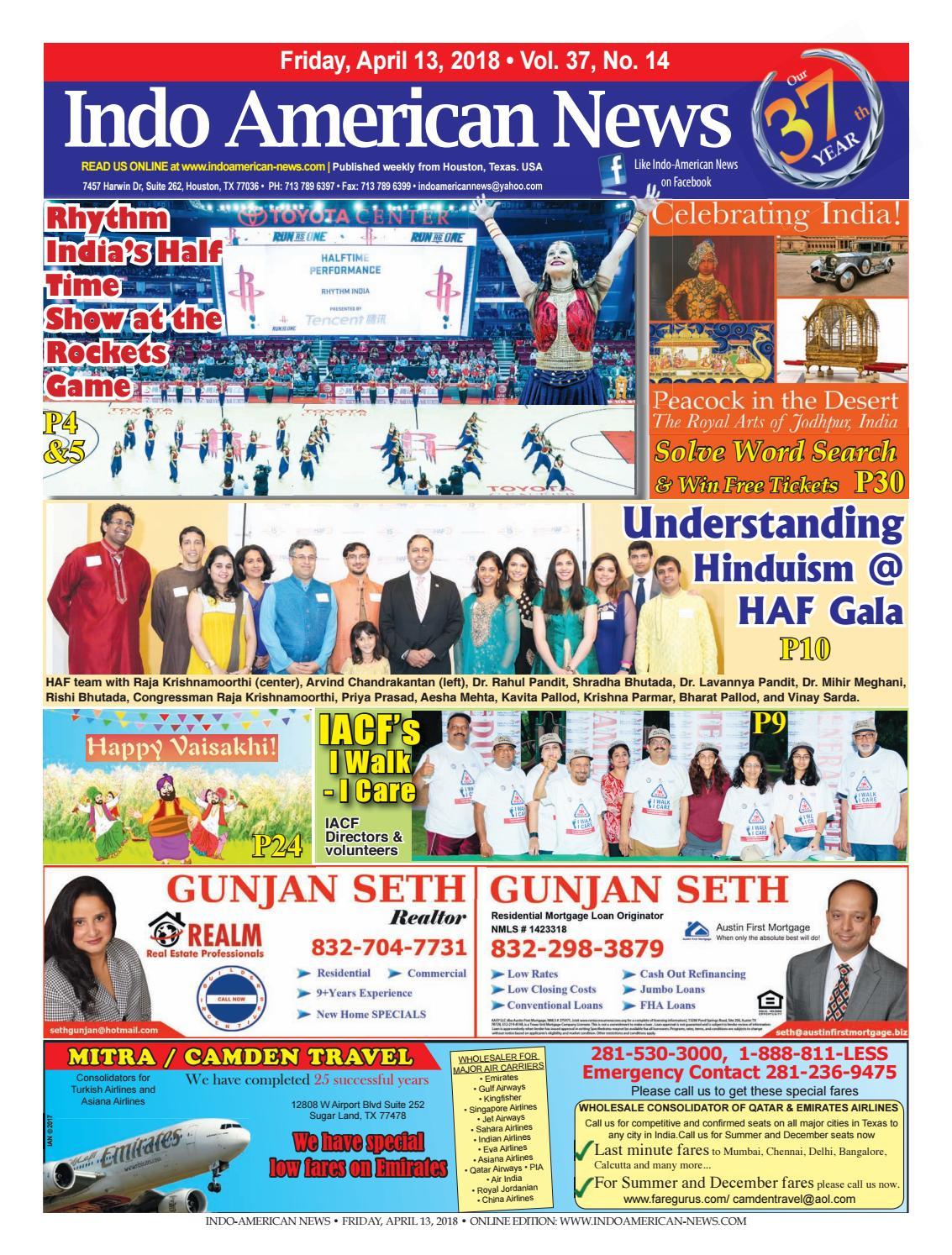 E-Newspaper04132018 by Indo American News - issuu