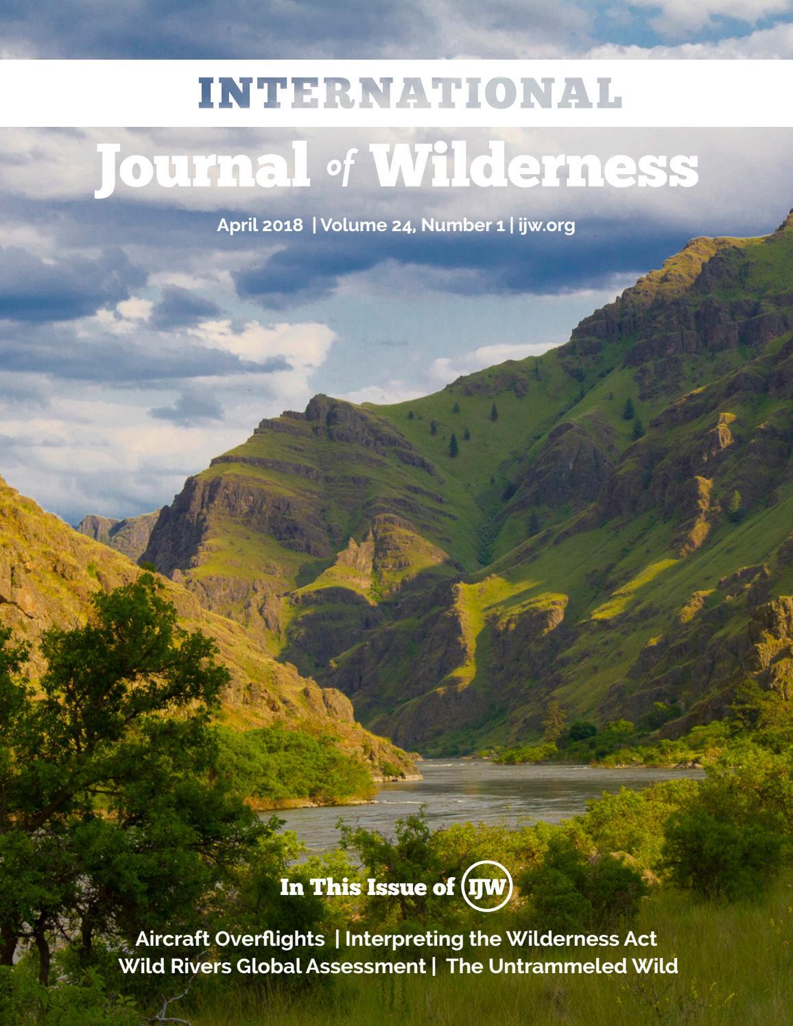 International Journal of Wilderness: Volume 24, No 1, April