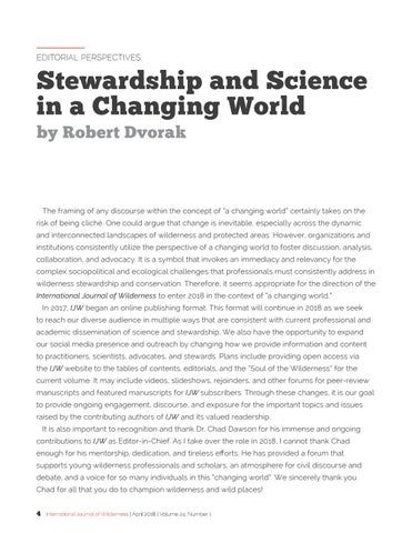 Page 4 of Stewardship and Science in a Changing World