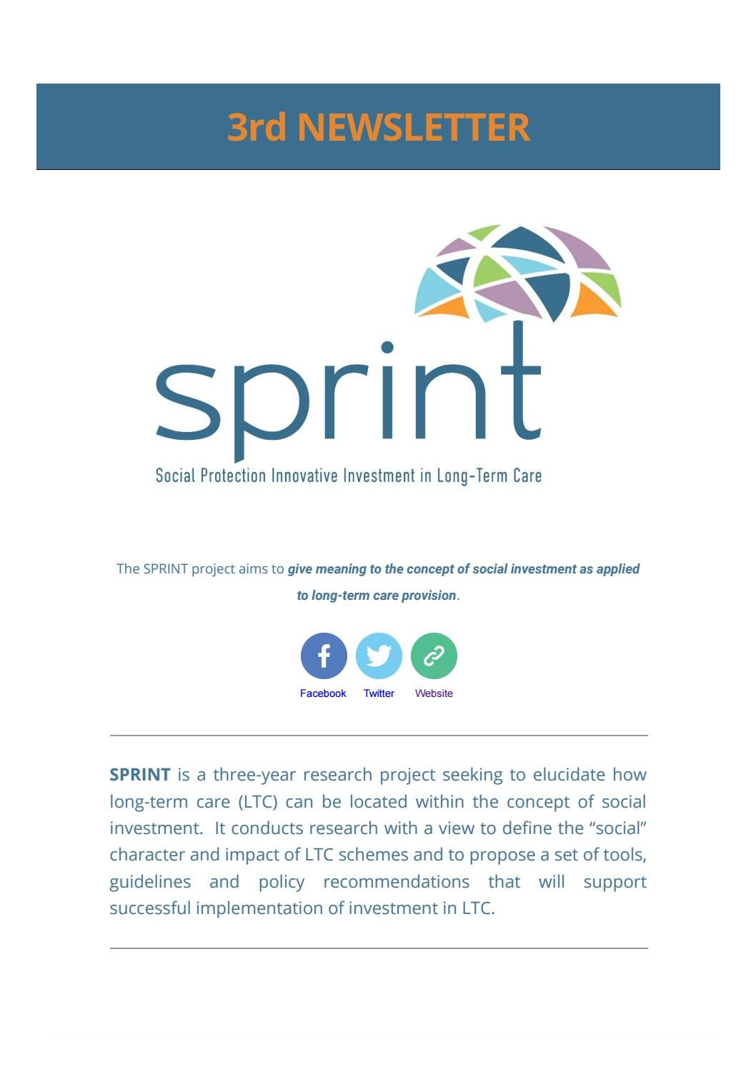 Sprint 3rd newsletter by Signosis - issuu