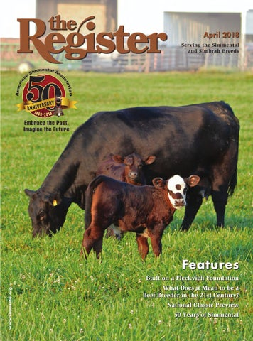 the Register April 2018 by American Simmental Publication