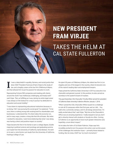 Page 10 of New President Fram Virjee Takes the Helm at Cal State Fullerton