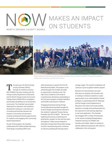 Page 20 of NOW Makes an Impact on Students