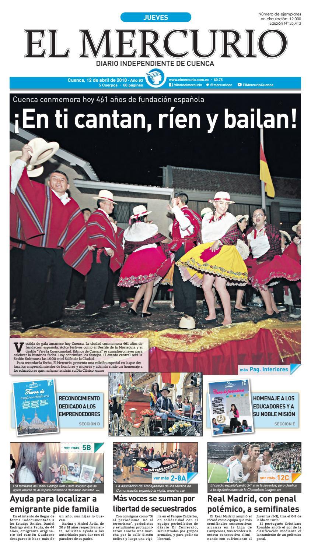 hemeroteca 12-04-2018 by Diario El Mercurio Cuenca - issuu 53431bea78c