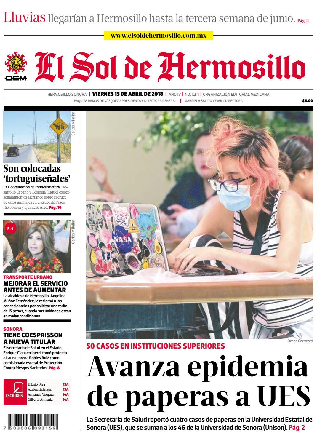Edición impresa 13 de abril 2018 by El Sol de Hermosillo - issuu