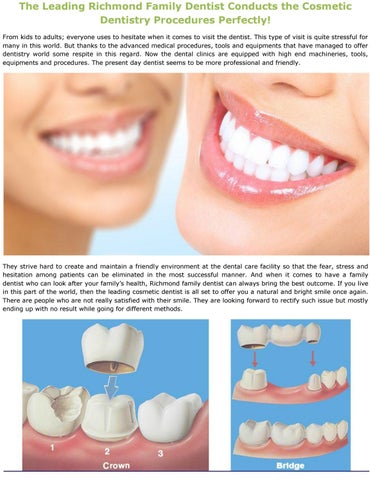 The Leading Richmond Family Dentist Conducts the Cosmetic