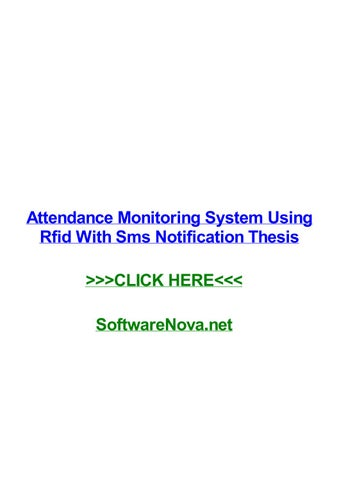 attendance monitoring system using rfid with sms notification
