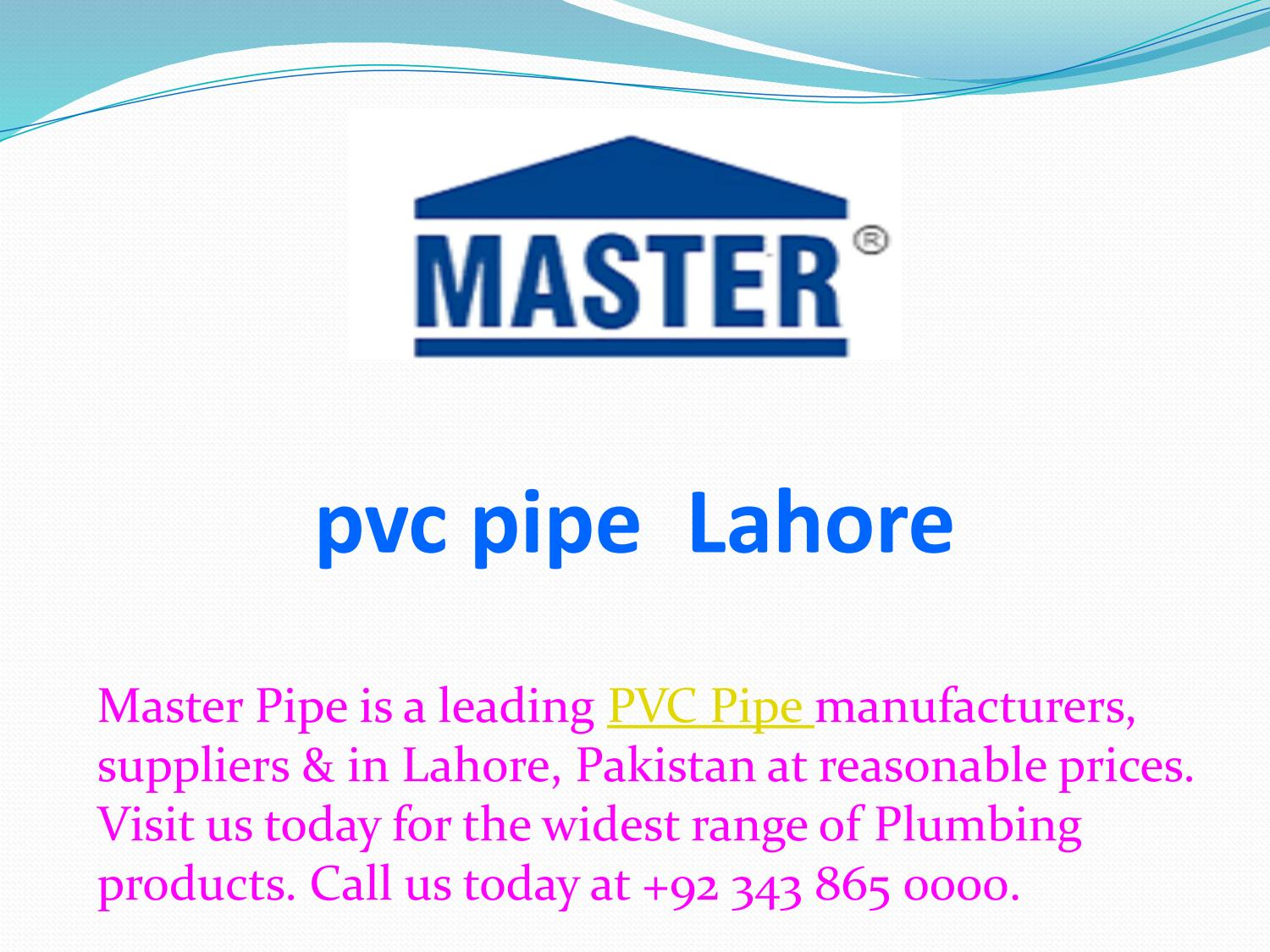 pvc pipe Lahore by Master Pipe - issuu