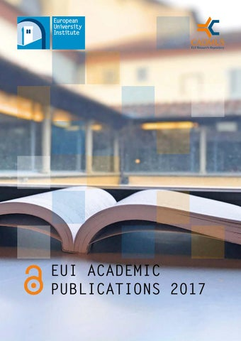 EUI Academic Publications 2017 by European University