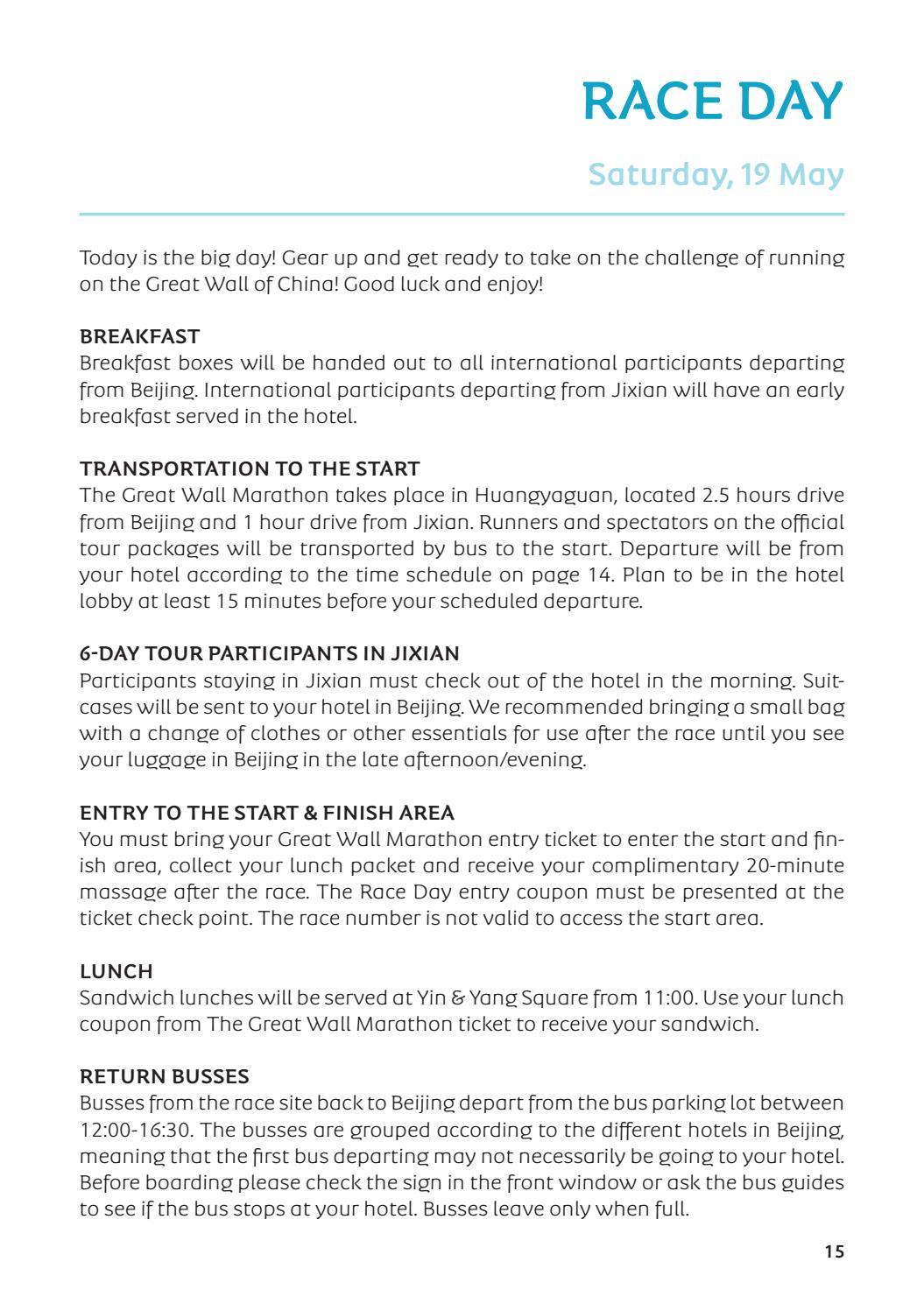 Great Wall Marathon Runners Guide 2018 By Albatros Travel Issuu