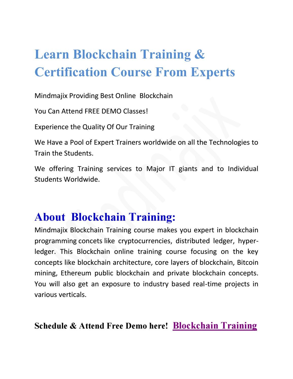 free cryptocurrency certification