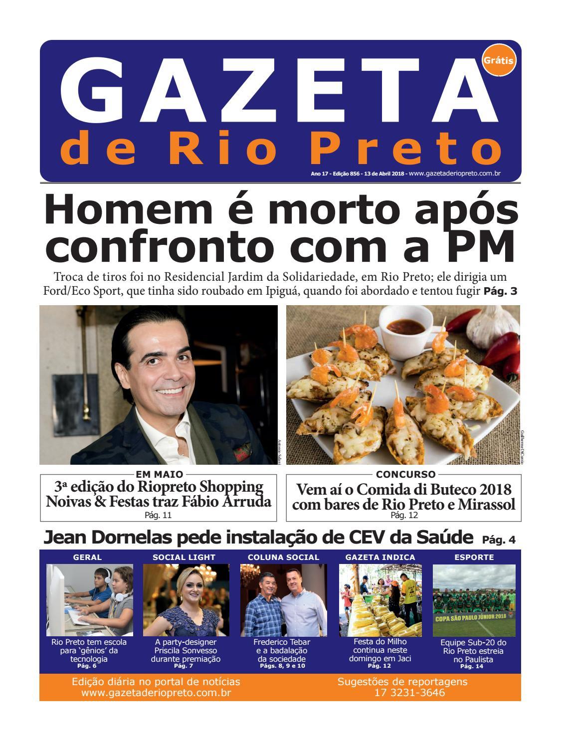 Gazeta de Rio Preto - 13 04 2018 by Social Light - issuu eedbd8d86e4