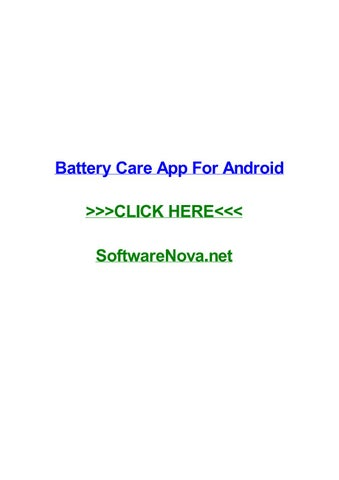 battery care android