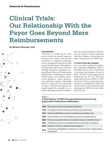 Page 16 of Clinical Trials: Our Relationship with the Payor Goes Beyond Mere Reimbursements