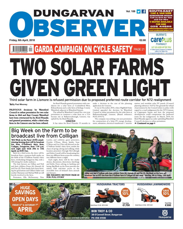 Dungarvan Observer 6 4 2018 Edition By Issuu Austin Sandal Mercedes Navy 38