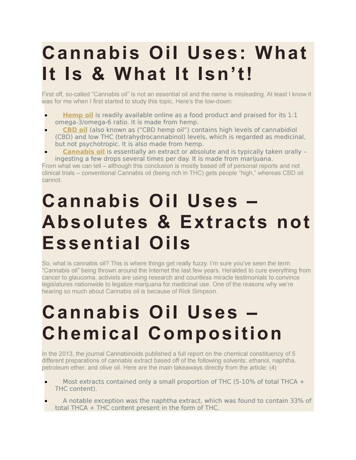 Cannabis Oil Uses: What is Cannabis Oil – Can it Cure Cancer