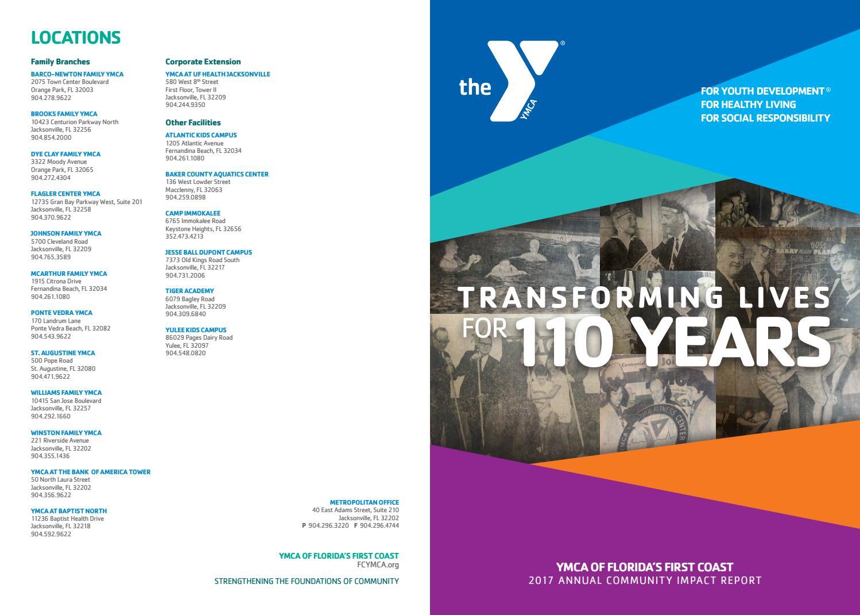 First Coast YMCA Annual Report 2017 by First Coast YMCA - issuu
