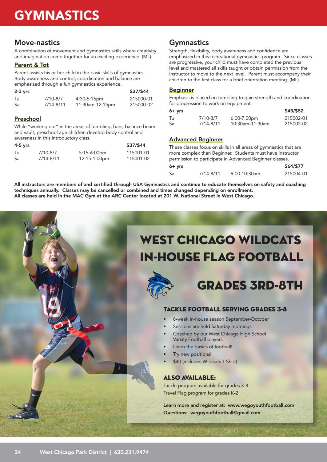 West Chicago Park District - Summer 2018 Program Guide by