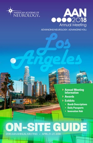 2018 AAN Annual Meeting On-site Guide by American Academy of