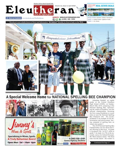 4c3dfd60002 The Eleutheran Newspaper - March April 2018 Issue by The Eleutheran ...